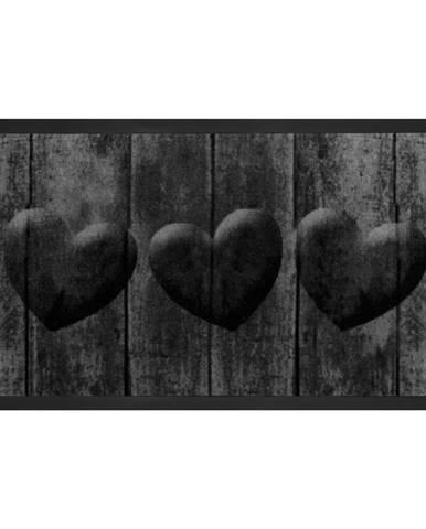 Sivá rohožka Hansa Home Hearts, 45 × 75 cm