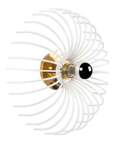 Biele nástenné svietidlo Opviq lights Aspendos, ø 36 cm