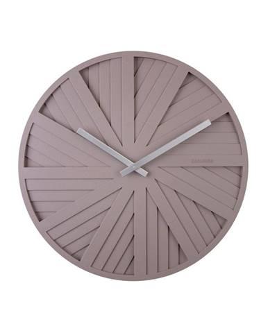 Sivé nástenné hodiny Karlsson Slides, ø 40 cm