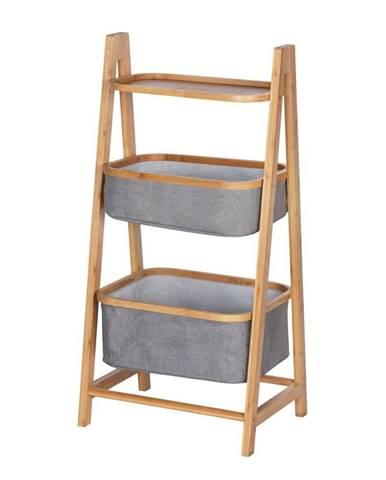 Bambusový kúpeľňový regál s 2 úložnými košíkmi Wenko Bahari