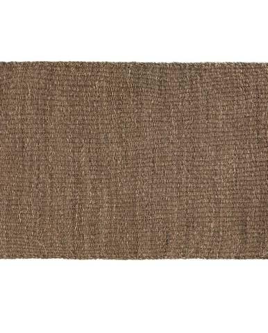 Hnedý koberec z morských rias Geese Rustico Natura, 120 × 180 cm