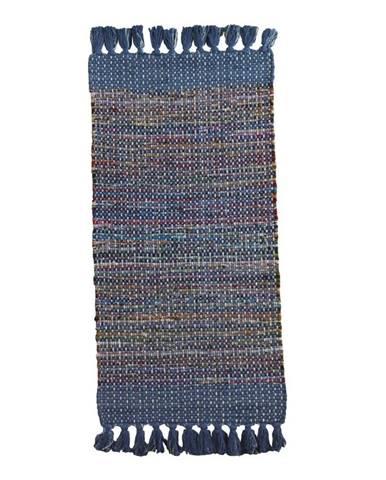 Modrý vzorovaný koberec Geese Blues, 120×60 cm