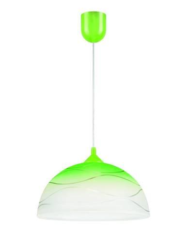 Zelené závesné svietidlo Lamkur Waves