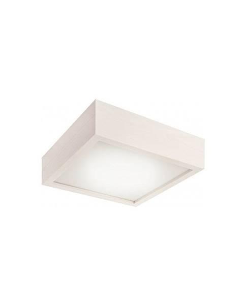 LAMKUR Biele štvorcové stropné svietidlo Lamkur Plafond, 27,5 x 27,5 cm