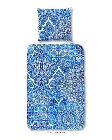 Obliečky na jednolôžko z bavlneného saténu Muller Textiels Heart of the Ocean, 140×200 cm