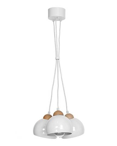 Biele závesné svietidlo s drevenými detailmi Homemania Dama Tres Perro