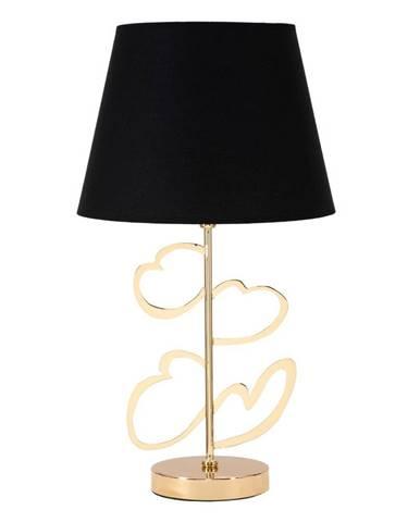 Stolová lampa v čierno-zlatej farbe Mauro Ferretti Glam Heart, výška 61 cm