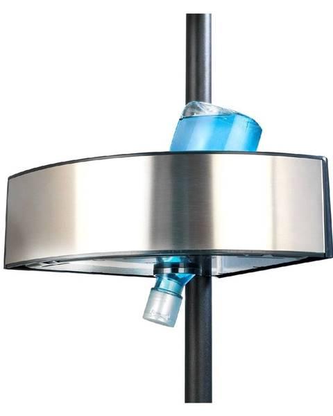 Wenko Teleskopická rohová polica do sprchy Wenko Prea Silver/Black, 27 × 20 cm