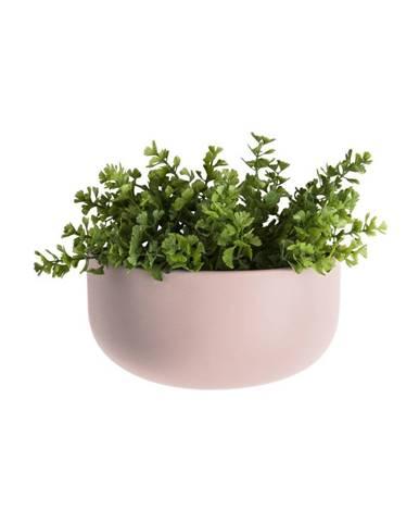 Svetloružový nástenný keramický kvetináč PT LIVING Nest