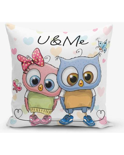 Minimalist Cushion Covers Obliečka na vaknúš s prímesou bavlny Minimalist Cushion Covers Hearts Colorful, 45×45 cm