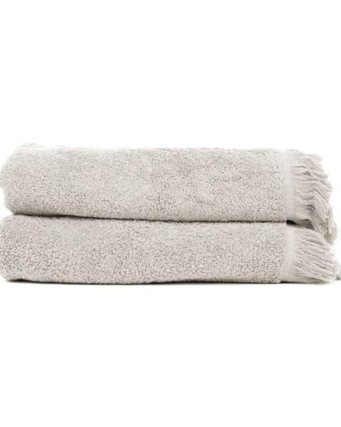 Bonami Sada 2 sivohnedých osušiek zo 100% bavlny Bonami, 70 × 140 cm