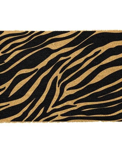 Artsy Doormats Rohožka z prírodného kokosového vlákna Artsy Doormats Zebra, 40 x 60 cm