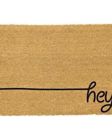 Čierna rohožka z prírodného kokosového vlákna Artsy Doormats Hey Scribble, 40 x 60 cm