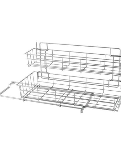 Prídavné dvojposchodové poličky do kuchynskej skrinky Metaltex Limpio