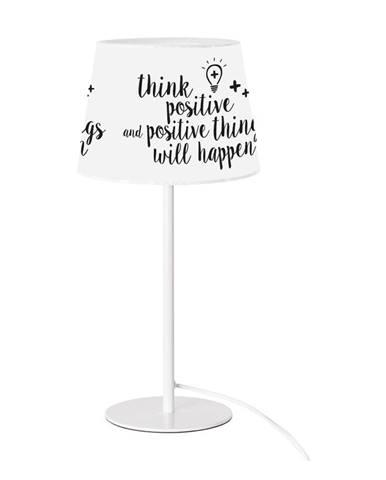 Čierno-biela stolová lampa SULION Positive