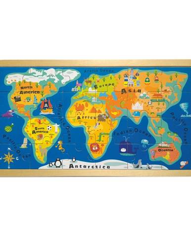 Puzzle v ráme Legler World Map