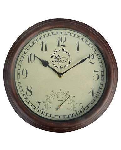 Vonkajšie nástenné hodiny s teplomerom Ego Dekor Time