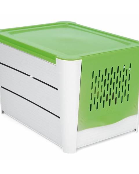Snips Bielo-zelený úložný box na zemiaky Snips Potatoes