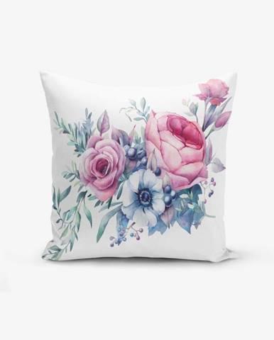 Obliečka na vankúš s prímesou bavlny Minimalist Cushion Covers Liandnse Special Design Flower, 45×45 cm