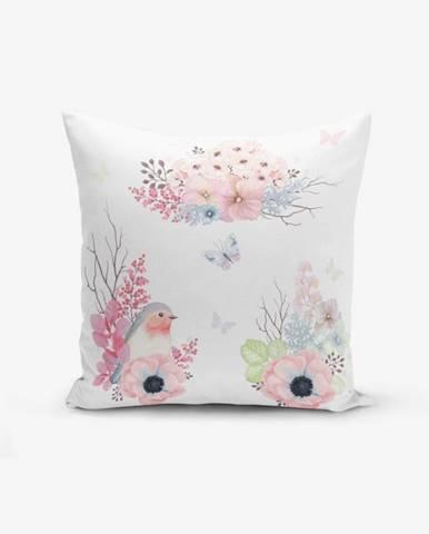 Obliečka na vankúš s prímesou bavlny Minimalist Cushion Covers Special Design Bird Modern, 45×45 cm