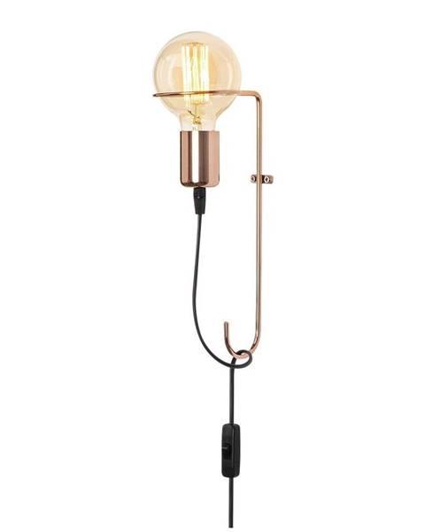 Opviq lights Kovové nástenné svietidlo v medenej farbe Opviq lights Rodopi