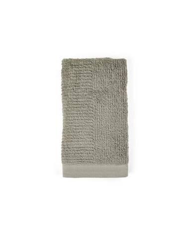 Sivozelený uterák zo 100% bavlny Zone Classic Eucalyptus, 50×100 cm