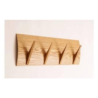 Nástenný vešiak z masívneho dreva Woodman Rack Naki Oak Large