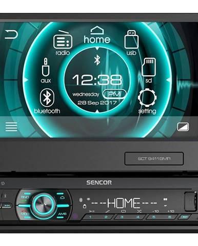 Autorádio s LCD Sencor SCT 9411BMR čierna