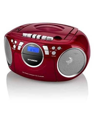 Rádiomagnetofón s CD Hyundai TRC 788 Au3rs strieborný/červen