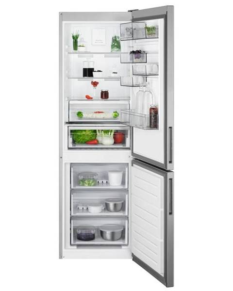 AEG Kombinácia chladničky s mrazničkou AEG Rcb632e4mx nerez