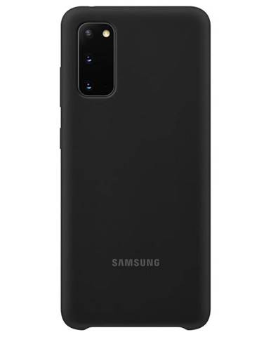 Kryt na mobil Samsung Silicon Cover na Galaxy S20 čierny