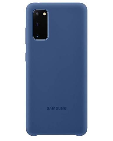 Kryt na mobil Samsung Silicon Cover na Galaxy S20 modrý