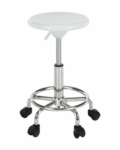 Stolička biela/chróm MABEL 3 NEW