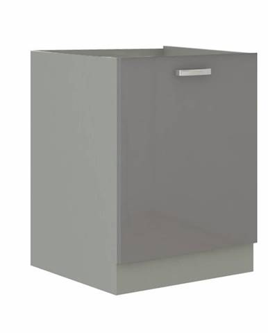 Skrinka dolná sivá extra vysoký lesk/sivá PRADO 60 D 1F BB