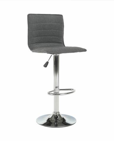Barová stolička sivá/chróm PINAR