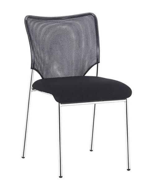 Tempo Kondela Zasadacia stolička čierna/chróm ALTAN