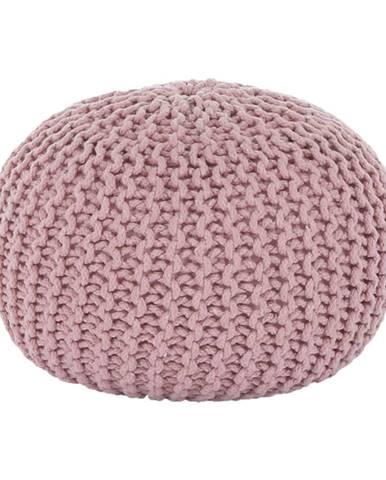 Pletený taburet púdrová ružová bavlna GOBI TYP 2