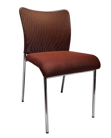 Zasadacia stolička hnedá/chróm ALTAN