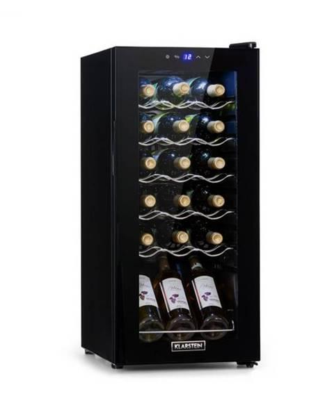 Klarstein Klarstein Shiraz 18 Slim Uno, vinotéka, 50 l, 18 fliaš, dotyková, 138 W, 5 – 18 °C, čierna