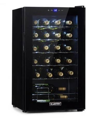 Klarstein Shiraz 24 Uno, vinotéka, 67 l, 24 fliaš, dotyková, 5 – 18 °C, čierna
