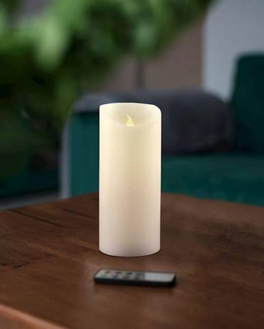 LED sviečka s diaľkovým ovládačom DecoKing Wax, výška 15 cm