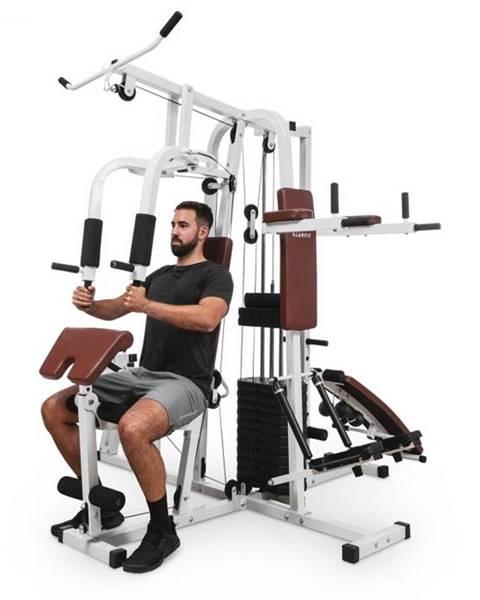 KLARFIT KLARFIT Ultimate Gym 9000, fitness stanica, 7 staníc, do 150 kg, QR oceľ, biela