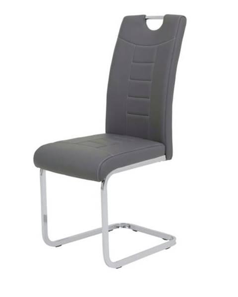 Sconto Jedálenská stolička RUBY S sivá