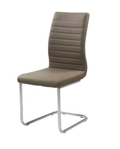 Jedálenská stolička PRAG svetlohnedá