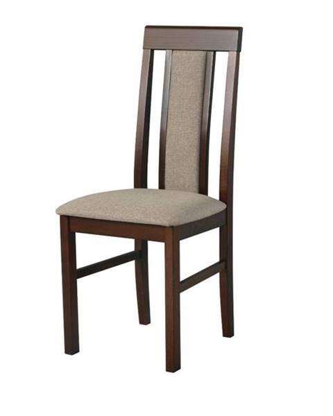Sconto Jedálenská stolička NILA 2 svetlohnedá/hnedá