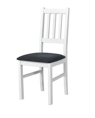 Jedálenská stolička BOLS biela/tmavosivá