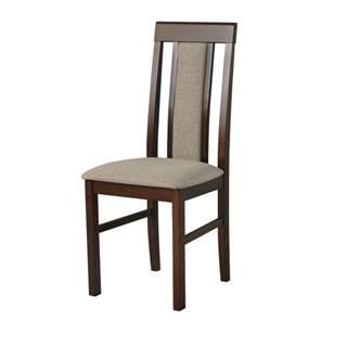 Jedálenská stolička NILA 2 svetlohnedá/hnedá