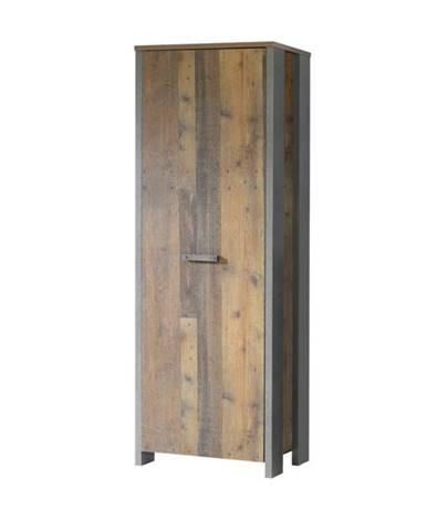 Predsieňová skriňa CLIF staré drevo/betón