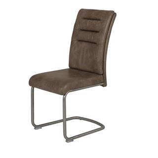 Jedálenská stolička PAULA hnedá